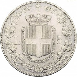 Moneta > 5liros, 1878-1879 - Italija  - reverse
