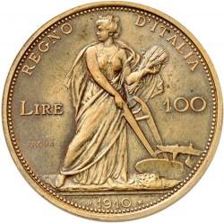 Moneta > 100lirów, 1910-1912 - Włochy  - reverse