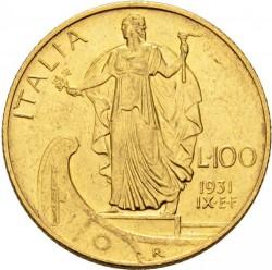 Moneta > 100lirów, 1931-1933 - Włochy  - reverse