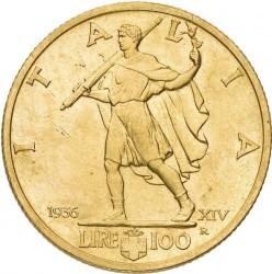 Moneta > 100lirų, 1936 - Italija  - reverse