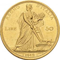Moneta > 50lirów, 1910-1912 - Włochy  - reverse