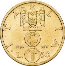 Moneta > 50lirów, 1936 - Włochy  - reverse