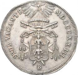 """Монета > 1скудо, 1823 - Папская область  (Отметка монетного двора: """"B"""" - Болонья) - obverse"""