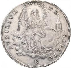 """Монета > 1скудо, 1823 - Папская область  (Отметка монетного двора: """"B"""" - Болонья) - reverse"""