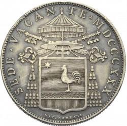 Монета > 1скудо, 1830 - Папська область  (Герб на аверсі) - obverse