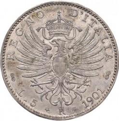 Монета > 5лири, 1901 - Италия  - reverse