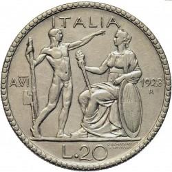 العملة > 20ليرة, 1928 - إيطاليا  - reverse