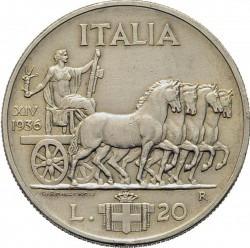 Moneda > 20liras, 1936 - Italia  - reverse