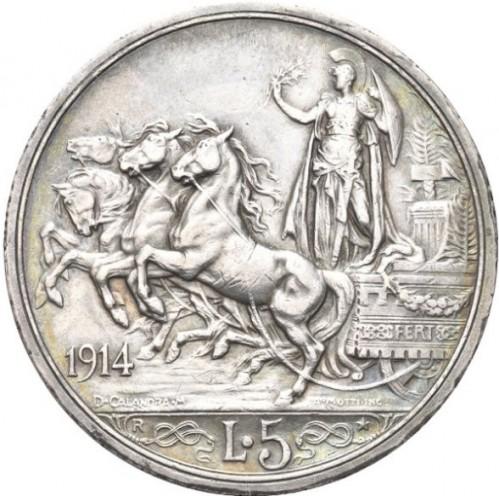 5 Lire 1914 Italien Münzen Wert Ucoinnet