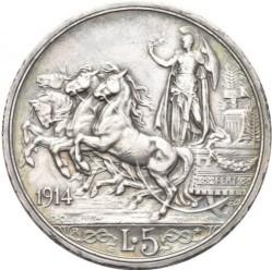 العملة > 5ليرة, 1914 - إيطاليا  - reverse