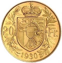 Νόμισμα > 20Φράγκα, 1930 - Λίχτενσταϊν  - reverse