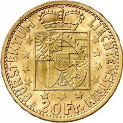 العملة > 20فرنك, 1946 - ليختنشتاين  - reverse