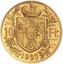 Монета > 10франків, 1930 - Ліхтенштейн  - reverse