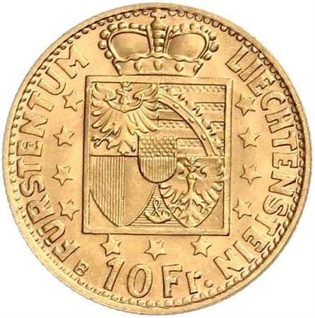 10 Franken 1946 Liechtenstein Münzen Wert Ucoinnet