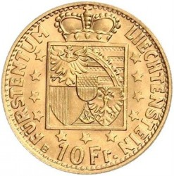 Монета > 10франків, 1946 - Ліхтенштейн  - reverse