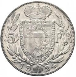 العملة > ٥فرنك, 1924 - ليختنشتاين  - reverse