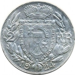 Монета > 2франка, 1924 - Ліхтенштейн  - reverse
