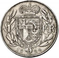 العملة > ١فرنك, 1924 - ليختنشتاين  - reverse