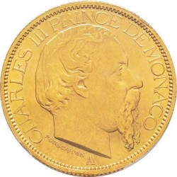 Monedă > 100franci, 1882-1886 - Monaco  - obverse