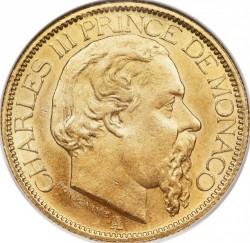 Кованица > 100франака, 1882-1886 - Монако  - obverse