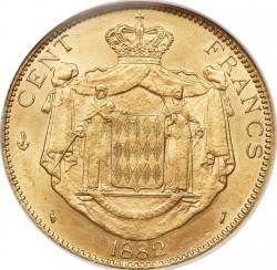Кованица > 100франака, 1882-1886 - Монако  - reverse