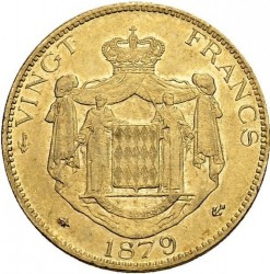 Monedă > 20franci, 1878-1879 - Monaco  - reverse