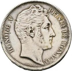 Minca > 5francs, 1837 - Monako  - obverse