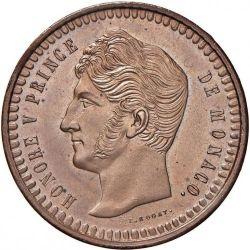 Monedă > 10centime, 1838 - Monaco  - obverse