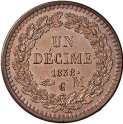 Monedă > 10centime, 1838 - Monaco  - reverse