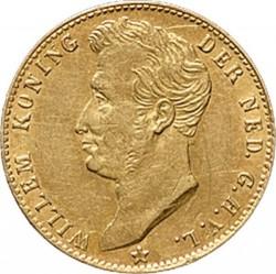 Monedă > 5guldeni, 1826-1827 - Regatul Țărilor de Jos  - obverse