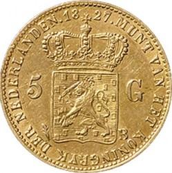 Monedă > 5guldeni, 1826-1827 - Regatul Țărilor de Jos  - reverse