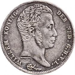 錢幣 > ½盾, 1818-1830 - 荷蘭  - obverse