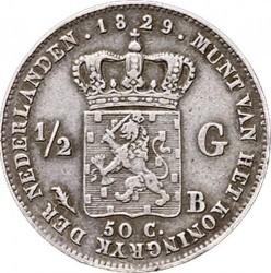 Monedă > ½gulden, 1818-1830 - Regatul Țărilor de Jos  - reverse