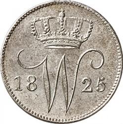 錢幣 > 25分, 1819-1830 - 荷蘭  - obverse