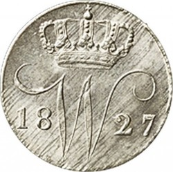 錢幣 > 5分, 1822-1828 - 荷蘭  - obverse