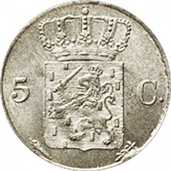 Moneta > 5centesimi, 1822-1828 - Paesi Bassi  - reverse