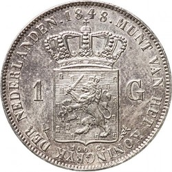 Munt > 1gulden, 1842-1849 - Nederland  - reverse