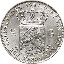 Münze > ½Gulden, 1847-1848 - Niederlande  - reverse