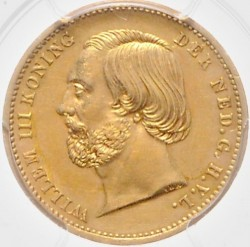 Münze > 10Gulden, 1851 - Niederlande  - obverse