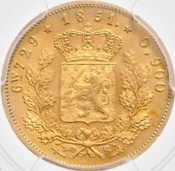 Münze > 10Gulden, 1851 - Niederlande  - reverse