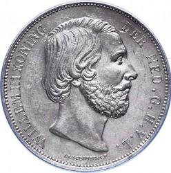 Munt > 2½gulden, 1849-1874 - Nederland  - obverse
