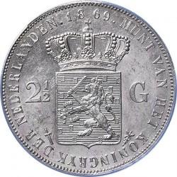 Munt > 2½gulden, 1849-1874 - Nederland  - reverse