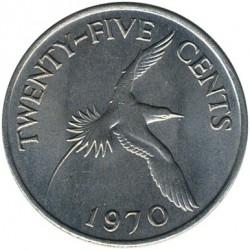 Moeda > 25cêntimos, 1970-1985 - Bermudas  - reverse