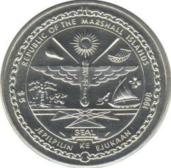 Moneta > 5dollari, 1998 - Marshall (Isole)  (Babe Ruth) - obverse