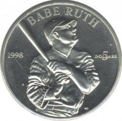 Moneta > 5dollari, 1998 - Marshall (Isole)  (Babe Ruth) - reverse