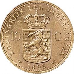 Monedă > 10guldeni, 1898 - Regatul Țărilor de Jos  - reverse