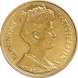 Monēta > 5guldeņi, 1912 - Nīderlande  - obverse