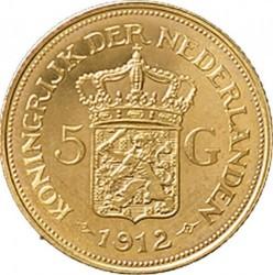 Monēta > 5guldeņi, 1912 - Nīderlande  - reverse