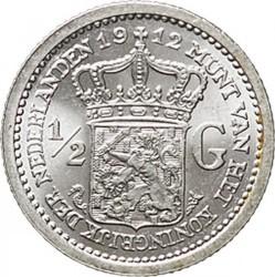 Munt > ½gulden, 1910-1919 - Nederland  - reverse
