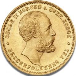 Moneta > 20kronų, 1874-1875 - Norvegija  - obverse